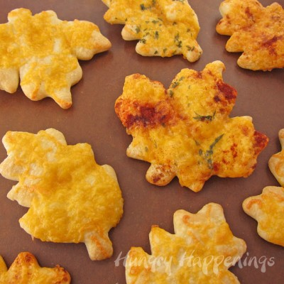 Kid Friendly Thanksgiving Recipes - Perfect Nanny Match - leaf-shaped-crescent-rolls-with-shredded-cheese-paprika-and-parsley-for-Thanksgiving-dinner-copy-400x400