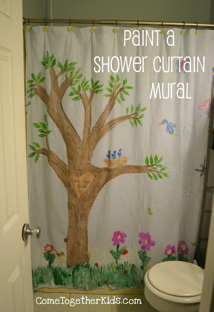 100 Things You Can Buy From the Dollar Tree and Use in Play - Perfect Nanny Match - shower_curtain_mural